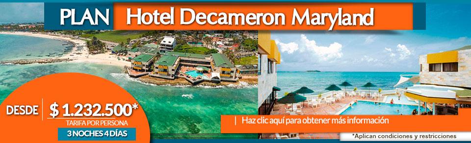 Planes Turísticos a San Andrés, Hotel Decameron Maryland