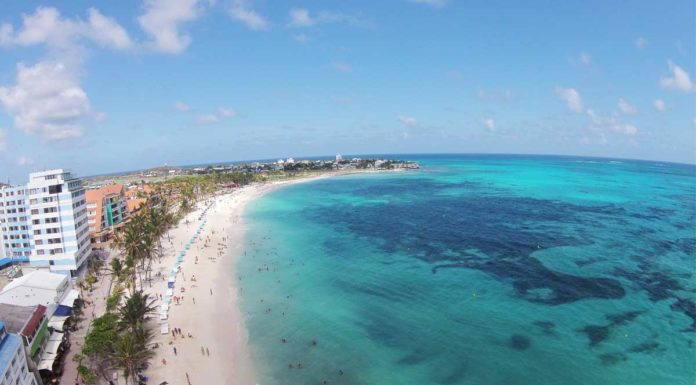 Playa Spratt Bight en San Andres Islas
