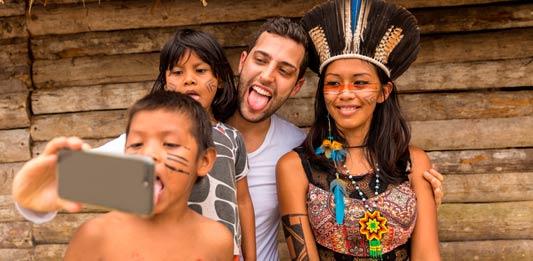Visita a la comunidad indigena